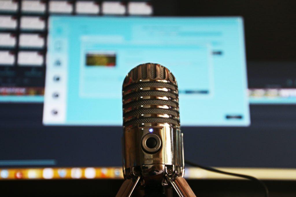 podcast microfono