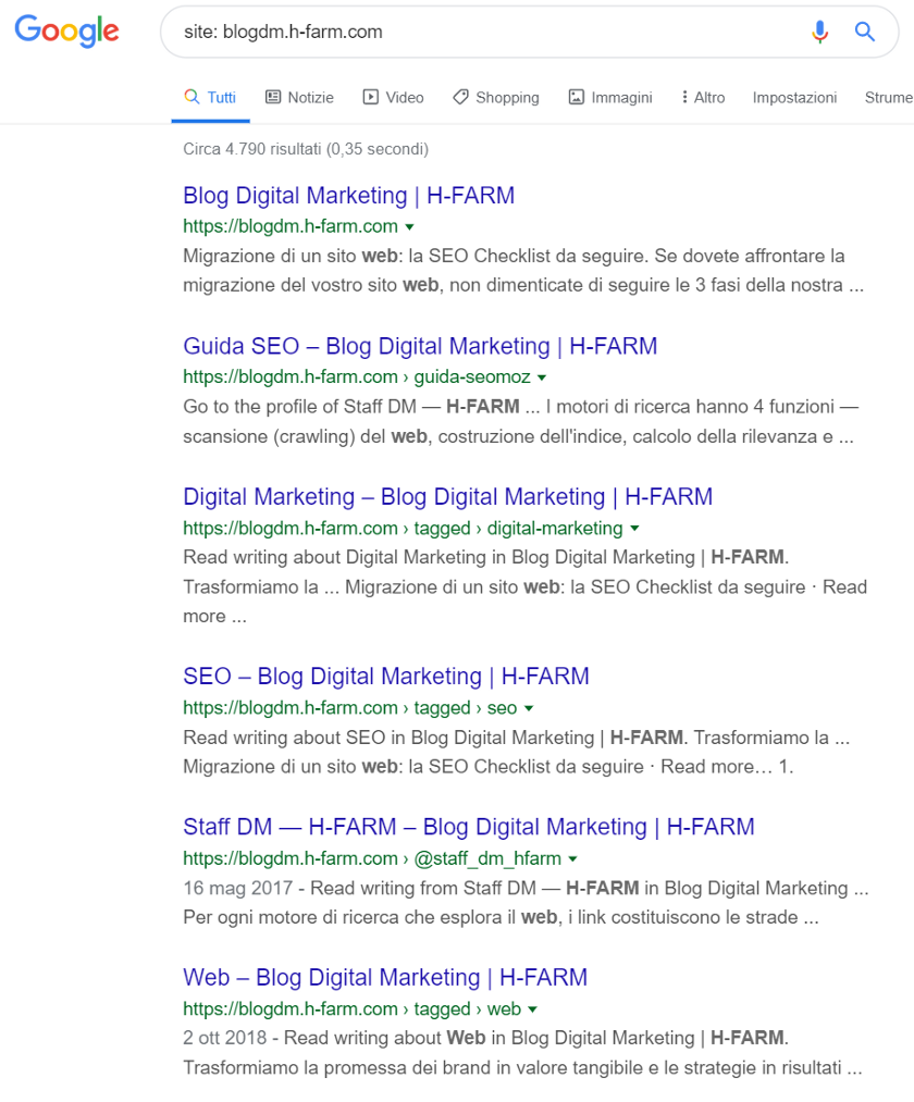 search site serp