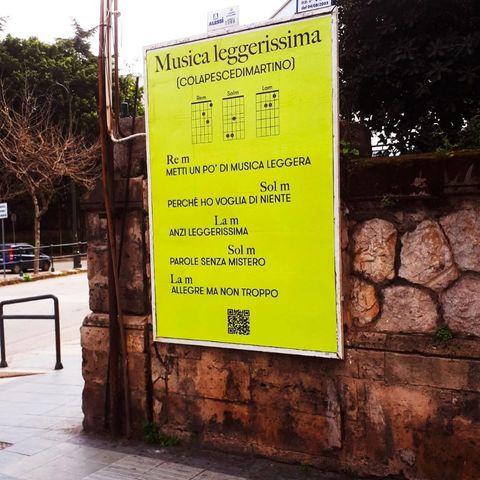 Manifesto Colapesce Sanremo 2021